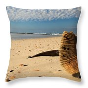 Monster Clam Throw Pillow by Adam Jewell