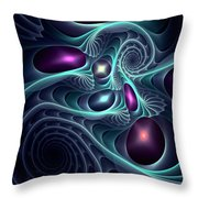Monsters Of The Deep Throw Pillow by Anastasiya Malakhova