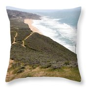 Montara State Beach Pacific Coast Highway California 5d22632 Throw Pillow by Wingsdomain Art and Photography