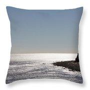 Montauk Beach And Bluff Throw Pillow by John Telfer