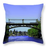 Montlake Bridge 2 Throw Pillow by Cheryl Young