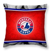 Montreal Expos Throw Pillow by Joe Hamilton