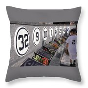 Monument Park -  Yankee Stadium Throw Pillow by Allen Beatty