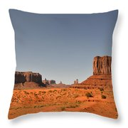 Monument Valley - Beauty Created By Nature Throw Pillow by Christine Till