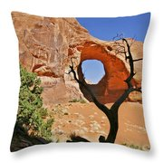 Monument Valley - Ear Of The Wind Throw Pillow by Christine Till