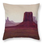 Monument Valley- Haze Throw Pillow by Xenia Sease