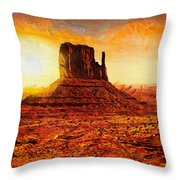 Monument Valley Throw Pillow by Mo T