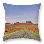 Monument Valley - The Classic View Throw Pillow by Christine Till