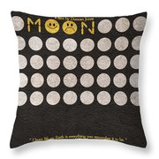 Moon Throw Pillow by Ayse Deniz
