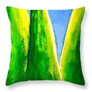 Moon-lit Night Throw Pillow by Nirdesha Munasinghe