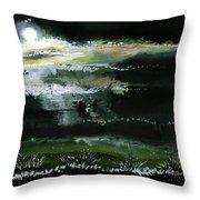 Moon N Light Throw Pillow by Anil Nene