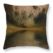 Moon over Ocean Throw Pillow by Ayse Deniz
