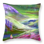 Moon Shadow Throw Pillow by Jane Small