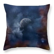 Moon Shine Throw Pillow by Andrea Kollo