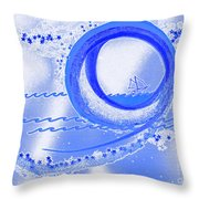 Moon Surfing 1 By Jrr Throw Pillow by First Star Art