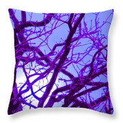 Moon Tree Purple Throw Pillow by First Star Art