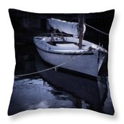 Moonlight Sail Throw Pillow by Amy Weiss