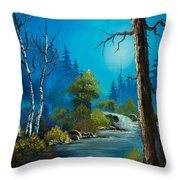 Moonlight Stream Throw Pillow by C Steele