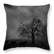 Moonlite Tree On The Farm Throw Pillow by Dan Friend