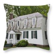 Moore House Yorktown Throw Pillow by Teresa Mucha