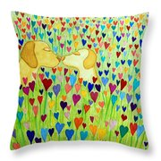 More Puppy Love  Throw Pillow by Nick Gustafson