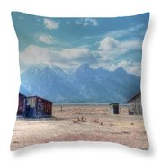 Morman Row Throw Pillow by Kathleen Struckle