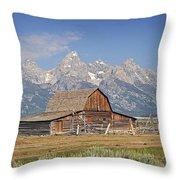 Mormon Barn 2 Throw Pillow by Marty Koch