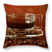 Morning Coffee Throw Pillow by Inspired Nature Photography By Shelley Myke