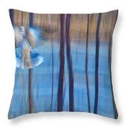 MORNING DOVE Throw Pillow by Theresa Tahara