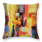 Morning In Paris Throw Pillow by Martin Decent