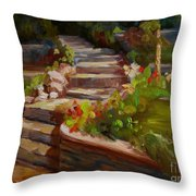 Morning Light Throw Pillow by Lisa Phillips Owens