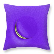 Morning Moon Purple Throw Pillow by Al Powell Photography USA