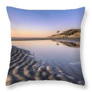 Morning On Jekyll Island Throw Pillow by Debra and Dave Vanderlaan