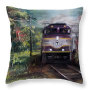 Morning Outbound Throw Pillow by Jack Skinner