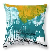 Morning Ride Throw Pillow by Linda Woods