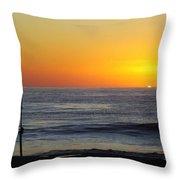 Morning Solitude Throw Pillow by Karen Wiles