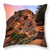 Moro Rock Path Throw Pillow by Inge Johnsson