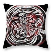 Morphed Art Globe 15 Throw Pillow by Rhonda Barrett