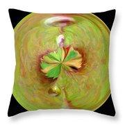 Morphed Art Globe 21 Throw Pillow by Rhonda Barrett