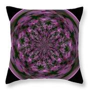 Morphed Art Globe 28 Throw Pillow by Rhonda Barrett