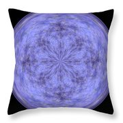 Morphed Art Globe 30 Throw Pillow by Rhonda Barrett