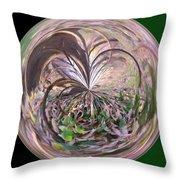 Morphed Art Globe 36 Throw Pillow by Rhonda Barrett