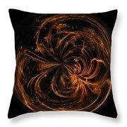 Morphed Art Globe 40 Throw Pillow by Rhonda Barrett