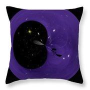 Morphed Art Globe 6 Throw Pillow by Rhonda Barrett