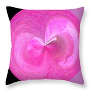 Morphed Art Globe 9 Throw Pillow by Rhonda Barrett