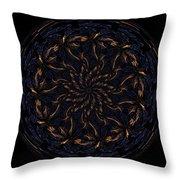 Morphed Art Globes 14 Throw Pillow by Rhonda Barrett