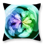 Morphed Art Globes 18 Throw Pillow by Rhonda Barrett