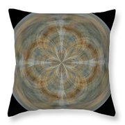 Morphed Art Globes 25 Throw Pillow by Rhonda Barrett