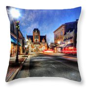 Most Beautiful Small Town In America At Christmas Throw Pillow by Darren Fisher