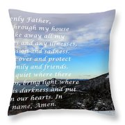 Most Powerful Prayer With Winter Scene Throw Pillow by Barbara Griffin